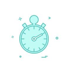 stop watch icon design vector image