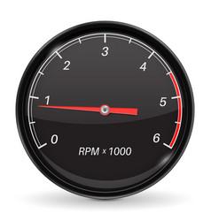Tachometer black car gauge vector