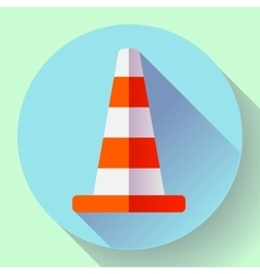 Traffic cone color icon under construction symbol vector