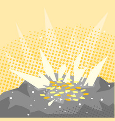 Treasure in rock vector