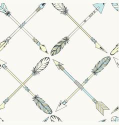 tribal indian seamless set arrows vector image