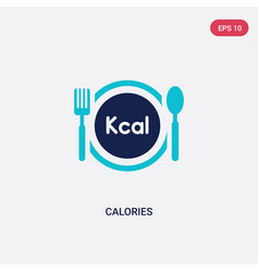 Two color calories icon from food concept vector