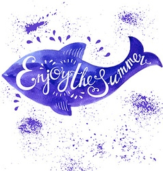 Typography fish vector image