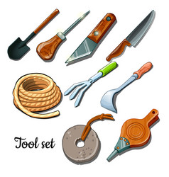Universal set of tools and fixtures vector