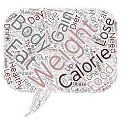 Why Do We Gain Weight text background wordcloud vector image