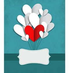 with paper hearts vector image
