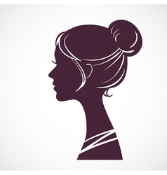 Women silhouette head vector image