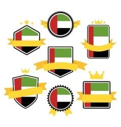 world flags series flag united arab emirates vector image