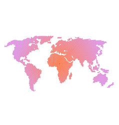 world map with dots pattern style isolate on vector image