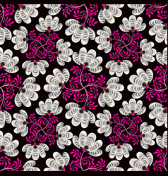 abstract floral seamless pattern geometric floral vector image vector image