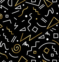 Abstract seamless pattern in gold 80s retro style vector image vector image
