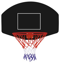 Black basketball basket vector image
