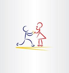 man proposing woman icon vector image