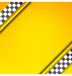 Racing template taxi backdrop vector image vector image