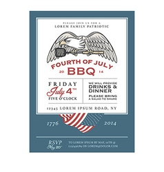 Vintage Independence Day barbecue invitation vector image