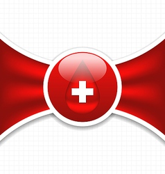 Abstract medical background blood donation vector image vector image