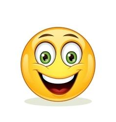 Emoticon with happy face vector image vector image