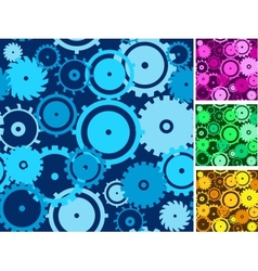 Gears seamless backgrounds set vector image vector image