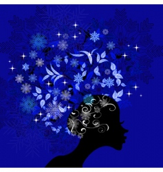 lady winter vector image vector image