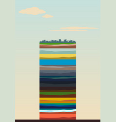 layers of the earth vector image