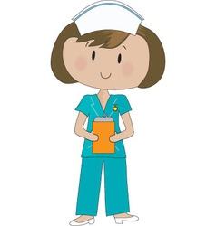 nurse scrubs vector image