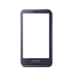 Realistic Smart Phone on White Background vector image