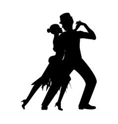 argentina tango silhouette vector image