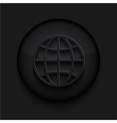black circle iconEps10 vector image