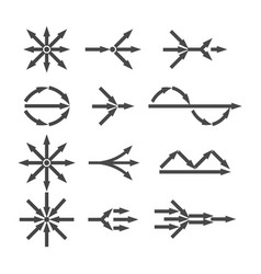 simplify icon set vector image
