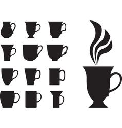 big tea cups vector image