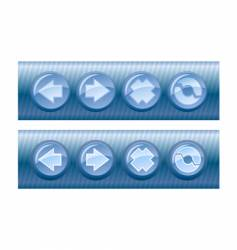 browser buttons vector image vector image