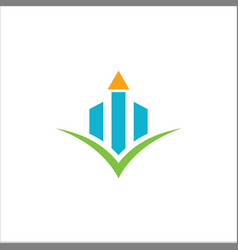 business finance graph logo vector image vector image