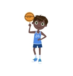 Child Basketball Player vector image vector image