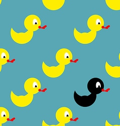 Childrens rubber toy for bathing Yellow Duck vector image