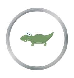 Crocodile cartoon icon for web and vector image