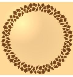 Seamless giraffe fur frame vector image