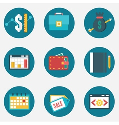 Set of business and management icons vector image vector image