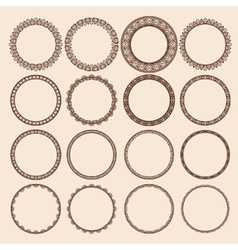 Set of Round Pattern Frames vector image vector image