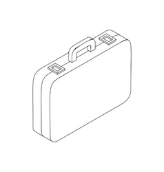 Suitcase icon in isometric 3d style vector image