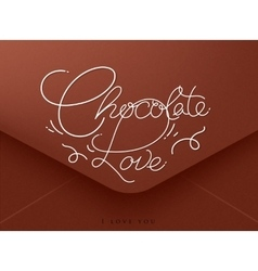 Valentines envelope chocolate vector image vector image