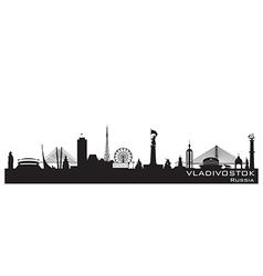 Vladivostok Russia city skyline Detailed silhouett vector image vector image