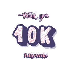 10k followers post template design vector image