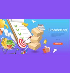 3d conceptual procurement vector
