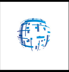 abstract globe sign on white vector image