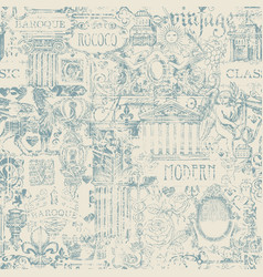 Abstract seamless pattern in vintage style vector