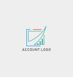 Accounting finance creative logo template isolated vector