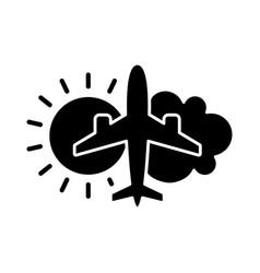 Aeronautical meteorology black glyph icon vector