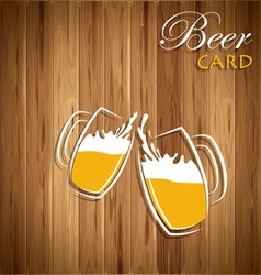 Beer card vector
