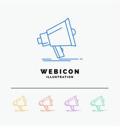 bullhorn digital marketing media megaphone 5 vector image