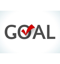 Business goal concept Goal icon with red check vector